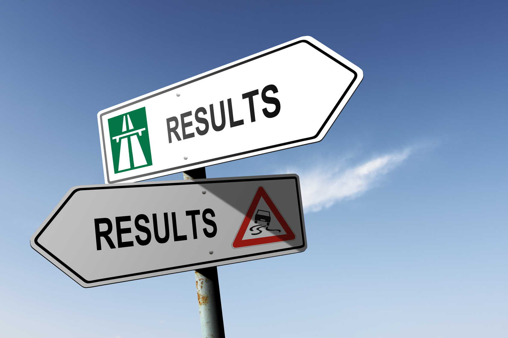 Results directions. Choice for easy way or hard way.