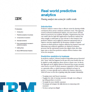 examples of real world predictive analytics cover