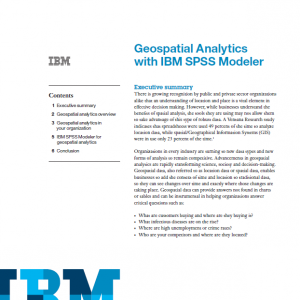 geospatial analytics with ibm spss modeler cover