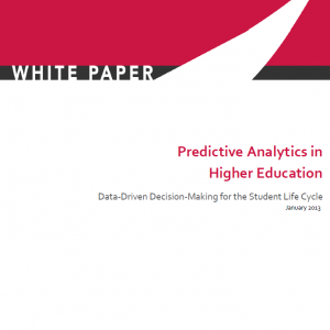 predictive analytics in higher education