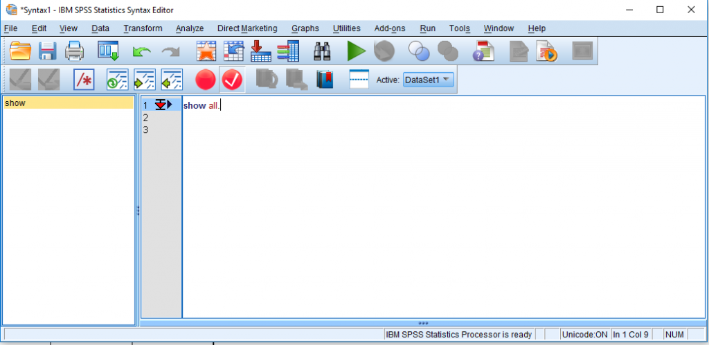 screen grab showing how to check which spss modules are installed